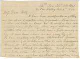Letter from Newton N. Davis in Cedar Valley, Georgia, to his wife, Bettie, in Columbus,...
