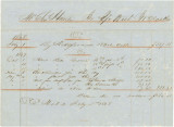 Invoice for money owed by Charles Hunter to J. W. Olds and Company of Mobile, Alabama.