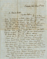 Letter from William Hunter in Cahaba, Alabama, to his brother, Thomas.