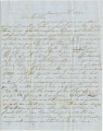 Letter from Charles Hunter in Cahaba, Alabama, to his brother, Thomas, in Shasta, California.