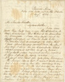 "Letter from William Hunter on the steamboat ""Asia,"" ""over 1500 miles out on the..."
