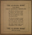 "Advertisement for ""The Alabama Home"" in Birmingham, Alabama."