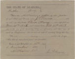 Voucher issued to John S. Powers of Butler County, Alabama, for the impressment of a slave...