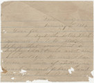 Letter from James A. Hall in Dalton, Georgia, to his brother, Joe, in Alabama.