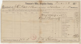 Tax receipt for $19.75 paid by Joseph E. Hall and his brothers, to the treasurer of Arapahoe...