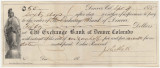 Promissory note for $50 to be paid by Joseph E. Hall to the Exchange Bank of Denver, Colorado.