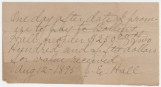 Promissory note for $250 to be paid by Joseph E. Hall to his father, Bolling.
