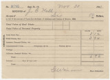 Receipt for $6.96 paid by Joseph E. Hall for taxes in Elmore County, Alabama.