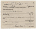 Receipt for $6.53 paid by the estate of Joseph E. Hall for taxes in Elmore County, Alabama.