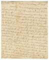 Letter from Daniel McGillivray to William Panton.