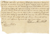 Bill of sale for slaves bought by Bolling Hall from William Alexander.