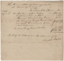Voucher for money owed by the Lafayette Committee, for the burial expenses for Joseph Tousant.