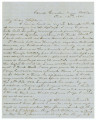 Letter from Edmund Pettus at Camp Goode near Mobile, Alabama, to his wife, Mary, in Cahaba,...