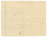 Letter from Edmund Pettus in the Cumberland Mountains near Jacksboro, Tennessee, to his wife,...