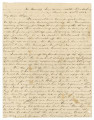 Letter from Edmund Pettus in camp six miles north of Vicksburg, Mississippi, to his wife, Mary, in...