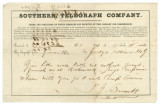 Telegram from T. J. Burnett in Greenville, Alabama, to Edmund W. Pettus and Isham W. Garrott in...