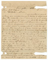 Letter from Edward W. Smith in Livingston, Alabama, to Edmund W. Pettus in Cahaba, Alabama.