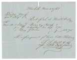 Receipt for brandy, whiskey, and flour bought by Colonel Edmund W. Pettus from S. S. Webb &...