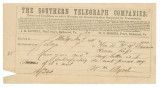 Telegram from William Byrd in Selma, Alabama, to Nathaniel Henry Rhodes Dawson.