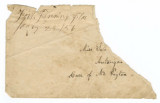 Envelope from Fort Fanning, Florida, to Autauga County, Alabama.