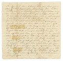 Incomplete letter from Thomas S. Taylor to his wife, Sallie.