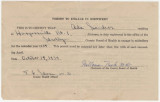 """Permit to Engage in Midwifery,"" issued to Ada Sanders by the Shelby County Board of..."
