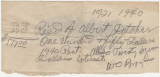 Receipt for payment received by W. O. Broyles, of Birmingham, Alabama, from Albert Datcher.