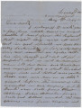 Letter from Jacob Weaver to sister Minerva in Hurtsville, Alabama.
