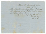 Pass granted by Major H. Thomas in Tuscumbia, Alabama, allowing Isaac Winston to travel to his...