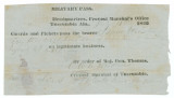 Pass granted by Colonel W. A. Hoskins in Tuscumbia, Alabama, allowing Isaac Winston to travel...