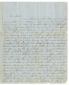 Letter from Isaac Winston, Jr., to Major General Buell, commanding the U.S. forces at Tuscumbia,...
