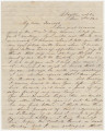"Letter from Hubert Dent in Clayton, Alabama, to his wife, Anna (""Nannie""), in Columbus,..."