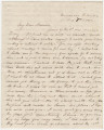 Letter from Hubert Dent at Fort Barrancas in Pensacola, Florida, to his wife, Anna...