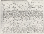 Copy of a letter from Hubert Dent to his wife, Anna.