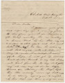 Letter from Mollie Dent in Charlotte Hall, Maryland, to her brother, Hubert Dent, in Eufaula,...