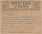 Telegram from participants in the Washington Park Forum in Chicago, Illinois, to Governor Miller...