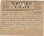 Telegram from First Siberian Broadcasting Station in Novosibirsk, Soviet Union, to the Governor of...