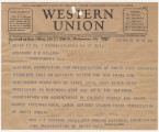 Telegram from Women's National Association for the Preservation of the White Race in Atlanta,...