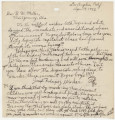 Letter from Joseph Rodriguez in Los Angeles, California, to Gov. B. M. Miller in Montgomery,...