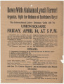 Flyer from International Labor Defense in New York, New York, to Governor Miller in Montgomery,...