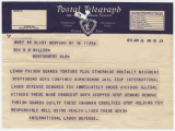 Telegram from the International Labor Defense in New York, New York, to Governor B.M. Miller in...