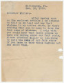 Letter from an unknown author in Pittsburgh, Pennsylvania to Governor Miller in Montgomery,...