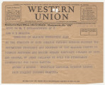 Telegram from National Student League City College Evening Chapter of New York in New York, New...