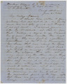 "Letter from Hubert Dent at ""Camp Alabama"" at Fort Barrancas in Pensacola, Florida, to..."