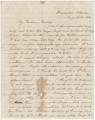 Letter from Hubert Dent at Fort Barrancas in Pensacola, Florida, to his wife, Anna.