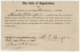 Oath of allegiance to the United States, submitted by Hamilton G. Bradford of Madison County,...