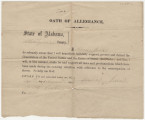 Oath of allegiance to the United States, submitted by Amos Jones of Montgomery County, Alabama, at...