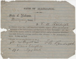 Oath of allegiance to the United States, submitted by E. B. Randolph of Montgomery County,...