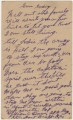 Postcard from William Clinton Davis at Fort Bragg in North Carolina, to his aunt, Jodie Sharp, at...
