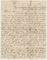 Letter from Hugh William Caffey in the general hospital at Camp Winder in Richmond, Virginia, to...